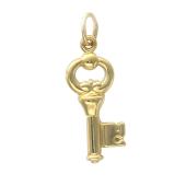 Кулон Ключик, желтое золото, высота 25 мм, с ушком 33 мм