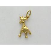 Подвеска Жираф из желтого золота 585 пробы
