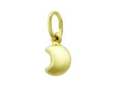 Кулон полумесяц Луна из желтого золота 585 проба