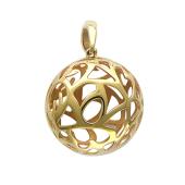 Кулон Шар с перфорацией, желтое золото