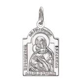 Икона Владимирская Божьей Матери в купольном окладе, серебро