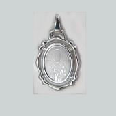 Николай Чудотворец в ажурном окладе из серебра