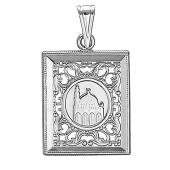 Кулон мусульманский с мечетью, серебро