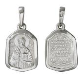 Николай Угодник в серебряном окладе