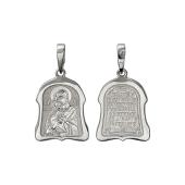 Икона Владимирская Божьей Матери в фигурном окладе, серебро
