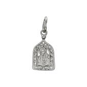 Казанская Богоматерь в ажурном окладе из серебра