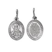 Икона Николай Чудотворец в овальном окладе, серебро