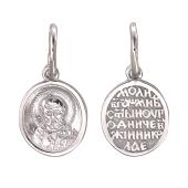 Николай Чудотворец в круге из серебра