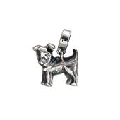 Шарм Собака из серебра с чернением