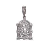 Матрона Святая в окладе с молитвой на обратной стороне, серебро 925 проба
