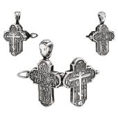 Крест православный открывающийся, серебро с чернением
