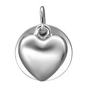 Подвеска Сердце из серебра 925 пробы