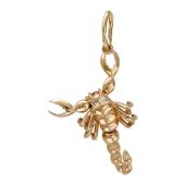 Кулон Скорпион красное золото, 585 проба, фигура скорпиона с подвижными клешнями и хвостом, глаза из фианита