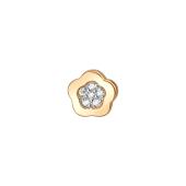 Кулон Викс Цветок с фианитами, красное золото