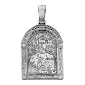 Николай Чудотворец в узорном окладе из серебра