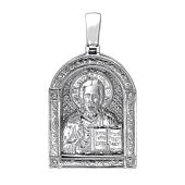 Господь Вседержитель в узорном окладе из серебра