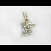 Подвеска Ангелочек с фианитом, серебро