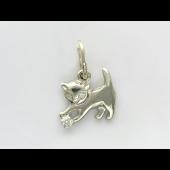 Кулон Кошка с фианитом, серебро