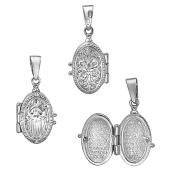 Ладанка открывающаяся с иконой Божьей Матери Знамение, серебро