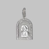 Господь Вседержитель в серебряном окладе с фианитами
