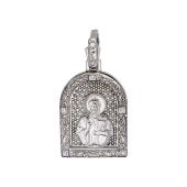 Сергий Радонежский в окладе из серебра с фианитами