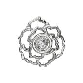 Кулон Роза с танцующим фианитом, Impulse, серебро