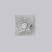 Кулон Звезда с фианитами из серебра