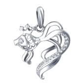 Подвеска Рыбка с фианитами из серебра 925 пробы