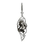Подвеска Пантера с фианитами, серебро