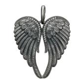 Кулон Крылья с фианитами  из серебра 925 пробы