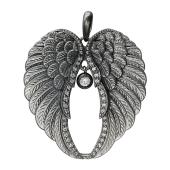 Кулон Крылья с фианитами, из серебра 925 пробы