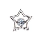 Подвеска  Impulse Звезда с танцующим фианитом, серебро