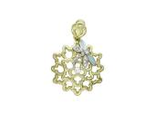 """Кулон """"Цветок и стрекоза"""" комбинированное золото, 585 пробы"""