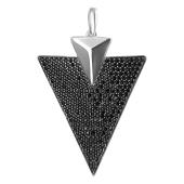 Подвеска Dream треугольник с черными фианитами, серебро 925 проба