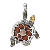 Подвеска Черепаха из серебра 925 пробы
