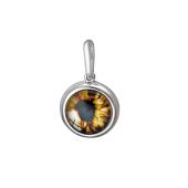 Кулон Амулет Глаз в сюрреалистическом стиле со стеклом из серебра