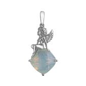 Подвеска Ангел с ювелирным лунным стеклом из серебра 925 пробы