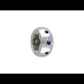 Подвеска Шарм Звезда с синим (красным, зеленым) камнем из серебра