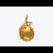 Кулон Пантера на шаре с полудрагоценным камнем, красное золото