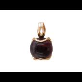 Кулон с полудрагом формы кабошон, красное золото
