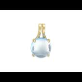 """Кулон """"Шар"""" с полудрагоценным камнем, желтое золото d=10мм"""