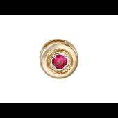Кулон круглый с рубином, красное золото