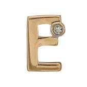Кулон Викс буква Е с бриллиантом, красное золото