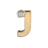 Кулон Викс буква Джей, латинская J с бриллиантом, красное золото