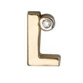 Кулон Викс буква L, латинская Л с бриллиантом, красное золото