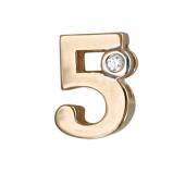 Кулон Викс цифра пять 5 с бриллиантом, красное золото
