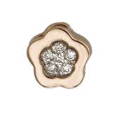 Кулон Викс Цветочек с бриллиантами, красное золото
