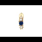 Кулон Дорожка с бриллиантами и изумрудом, красное золото