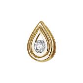 Кулон Вектор с бриллиантом, красное золото