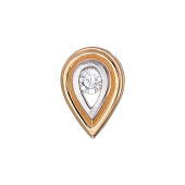 Кулон Капля с бриллиантом, красное золото